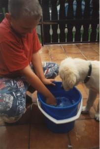 Wasser bereitete ihm Spaß