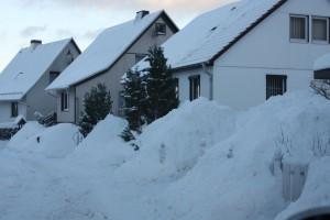 und die Häuser ... die Grenzen der Kapazitäten waren erreicht